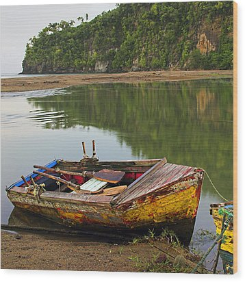 Wood Print featuring the photograph Wooden Boat- St Lucia by Chester Williams