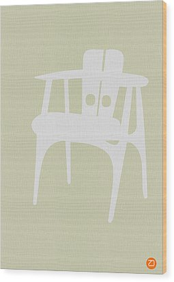 Wooden Chair Wood Print by Naxart Studio