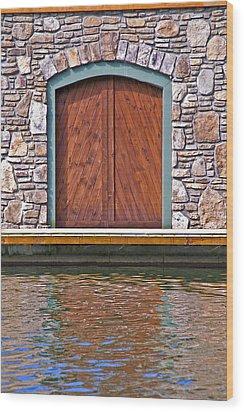 Wooden Door Wood Print by Susan Leggett