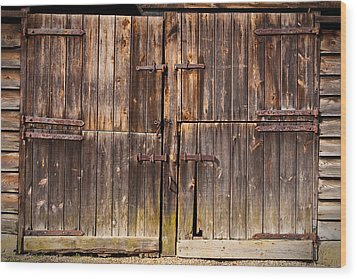 Wooden Door Wood Print by Tom Gowanlock