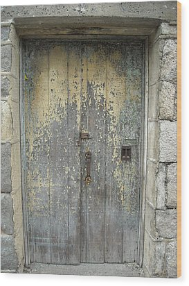 Wooden Doors Wood Print