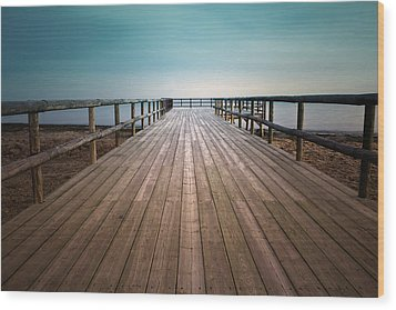 Wooden Pier Wood Print by Christian Callejas