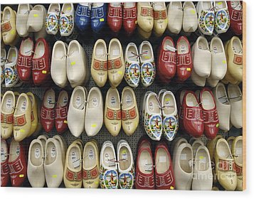 Wooden Shoes Wood Print by Ed Rooney