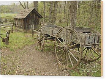 Wooden Wagon Wood Print