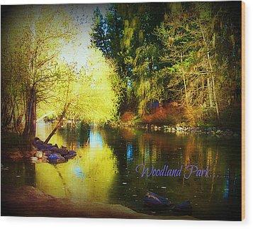 Woodland Park Wood Print