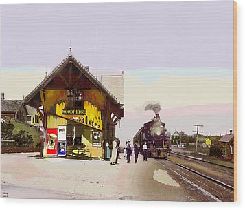 Woodridge Depot Wood Print by Charles Shoup