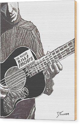 Woody Sez Wood Print by David Fossaceca