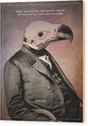 Word Micah Wood Print by Jim LePage