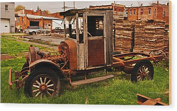 Workhorse Wood Print by Edward Peterson