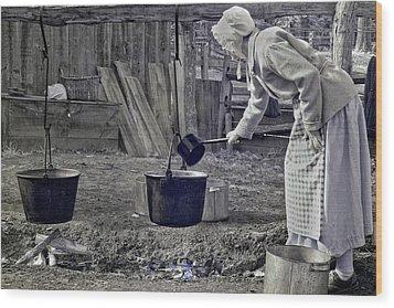 Working Girl Wood Print by Joann Vitali