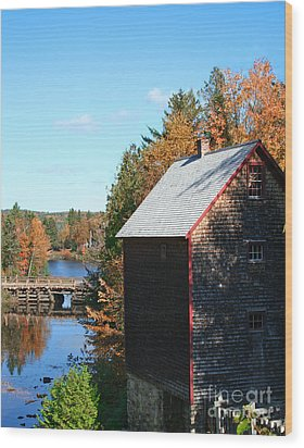 Wood Print featuring the photograph Working Gristmill by Barbara McMahon
