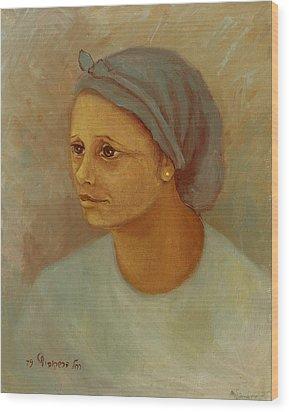 Working Woman Wood Print by Rachel Hershkovitz