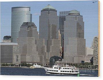 World Financial Center Nyc Wood Print by John Van Decker