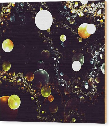 World Of Bubbles Wood Print by Steve K