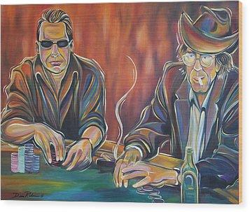 World Series Of Poker Wood Print by Redlime Art