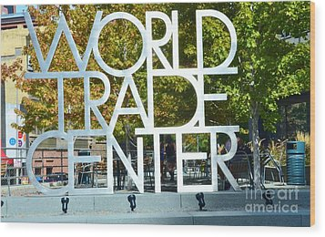 World Trade Center Wood Print by Kathleen Struckle