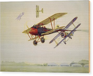 World War I Air Battle In Which Wood Print by Everett
