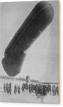 World War I, German Observation Balloon Wood Print by Everett