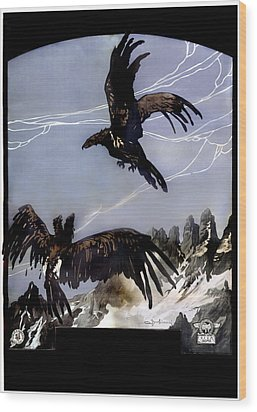 World War I, Italian Eagle Attacking Wood Print by Everett