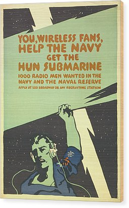 World War I, Navy Recruitment Poster Wood Print by Everett