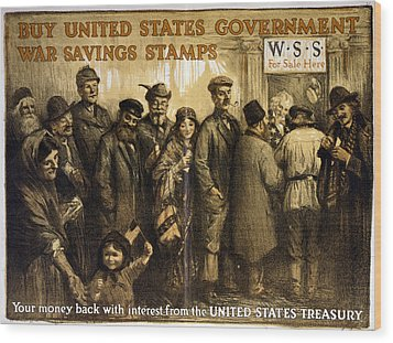 World War I, Poster Showing A Variety Wood Print by Everett