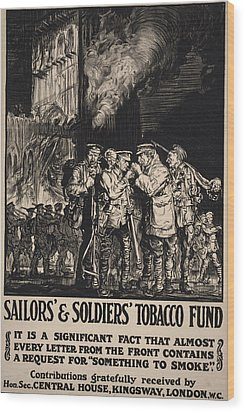 World War I, Poster Showing Soldiers Wood Print by Everett