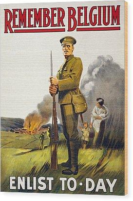 World War I, Recruitment Poster Poster Wood Print by Everett