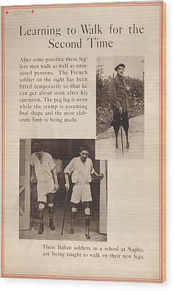 World War I, Red Cross Poster Showing Wood Print by Everett