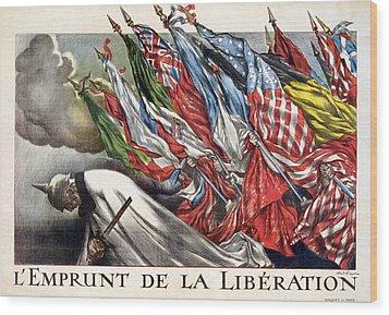 World War I, The Liberation Loan Wood Print by Everett