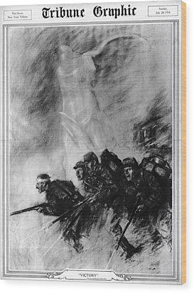World War I, The Tribune Graphic Wood Print by Everett