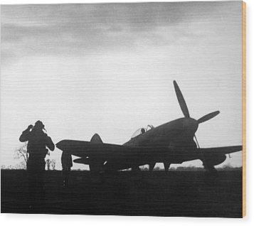 World War II, A British Fighter Pilot Wood Print by Everett