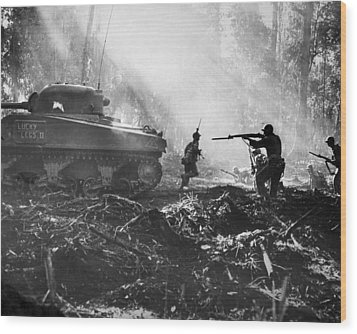 World War II: Bougainville Wood Print by Granger