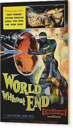 World Without End, Lisa Montell Top Wood Print by Everett
