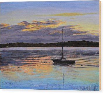 Worlds End Boat Wood Print