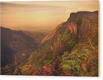 Worlds End. Horton Plains National Park. Sri Lanka Wood Print by Jenny Rainbow