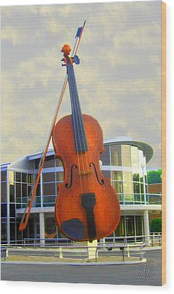 World's Largest Fiddle Wood Print