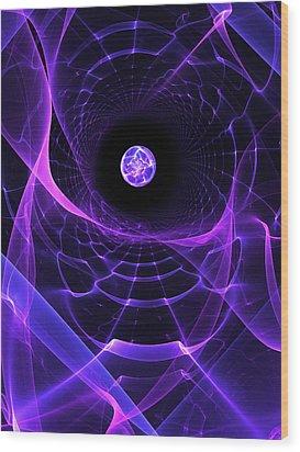 Wormhole Wood Print by Pam Blackstone