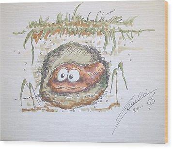 Wormhole Wood Print by Paul Chestnutt