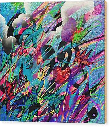 Wounded Fruit Wood Print by Rachel Christine Nowicki