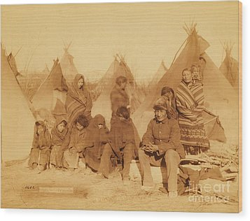 Wounded Knee Survivors Wood Print by Pg Reproductions