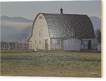 Wood Print featuring the photograph Wrapped Barn by Mick Anderson
