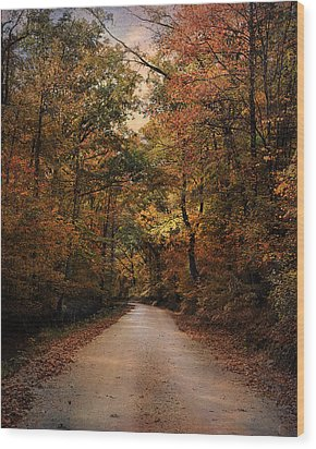 Wrapped In Autumn Wood Print by Jai Johnson