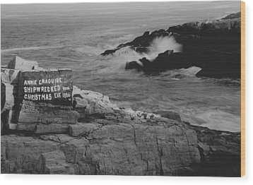 Wood Print featuring the photograph Wreck Site by Rick Frost