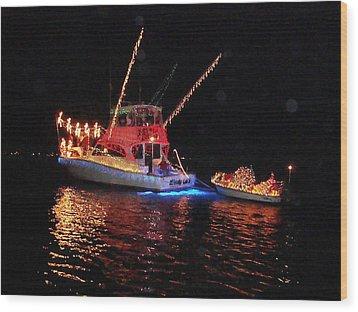 Wrightsville Beach Flotilla Wood Print