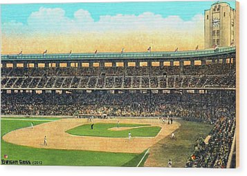 Wrigley Field In Los Angeles Ca In 1937 Wood Print by Dwight Goss