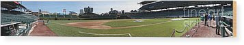 Wrigley Field Panorama Wood Print by David Bearden