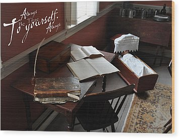 Writers Desk Wood Print by Daryl Macintyre