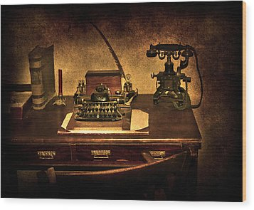 Writers Desk Wood Print by Svetlana Sewell