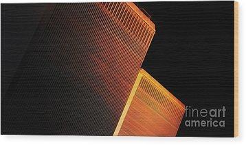 Wtc Sunset 4 Wood Print by Boris Est