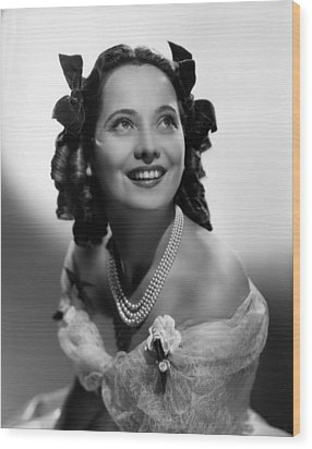 Wuthering Heights, Merle Oberon, 1939 Wood Print by Everett